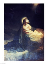 Christ in the Garden of Gethsemane Heinrich Hoffmann (1824-1911 German) poster print by  Unknown