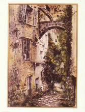 Mougins France poster print by Angelo Gallo