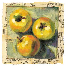 3 Yellow Apples poster print by Sarah Waldron