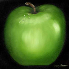 Green Apple poster print