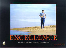 Excellence (Robert Harvey) poster print by  SuccessCorner
