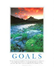 Goals poster print by  SuccessCorner