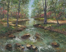 Cascading Brook I poster print by Van Martin