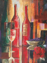Abstract Vino I poster print by Kim Murphy