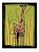 Giraffe poster print by Martin French