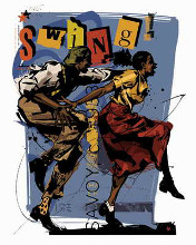 Swing I poster print by Martin French