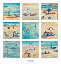 A Day at the Beach poster print by Adolf Llovera