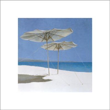 Umbrellas poster print by Lincoln Seligman