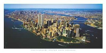 Aerial View Of Manhattan poster print by Steven Lindner