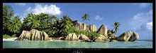La Digue Island, Seychelles, Indian Ocea poster print by K.H. Hanel