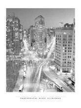 Flatiron Building At Night poster print by Henri Silberman