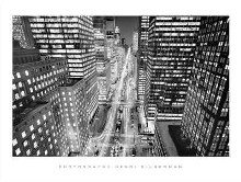 Park Avenue At Night, Nyc poster print by Henri Silberman