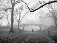 Gothic Bridge, Cental Park, Nyc poster print by Henri Silberman