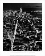 WTC From Empire State Building poster print by Henri Silberman
