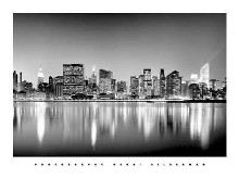 Manhattan East Side poster print by Henri Silberman
