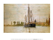 Chasse-Maree at Anchor poster print by Claude Monet