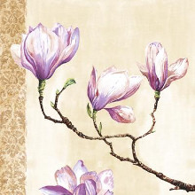 Magnolias On Pink poster print by Louise Anglicas