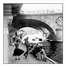 Rock N Roll Sur Les Quais De Paris poster print by Paul Almasy