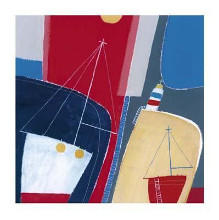One Red Boat poster print by Dave Jaundrell