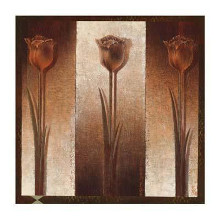 Three Tulips poster print by Mira Latour