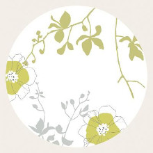 Floral Composition In The Round I poster print by Louise Anglicas