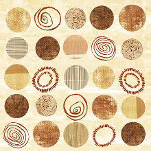 Twenty Five Circular Variations I poster print by Louise Anglicas