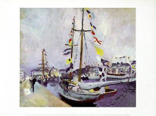 Le Yacht Pavoise Au Havre poster print by Raoul Dufy