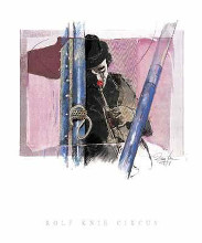 Musik Clown poster print by Rolf Knie