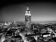 Empire State Building At Night poster print by Henri Silberman