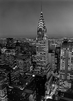 Chrysler Building poster print