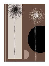 Black And White Dandelions poster print by Jo Parry