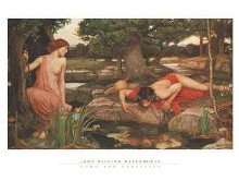 Echo And Narcissus poster print