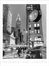 Chrysler Clock, Madison Avenue poster print by Henri Silberman