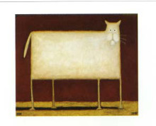 White Cat II poster print by Daniel Kessler