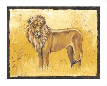 Lion Stands Proud poster print by Philippe Genevrey