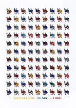 98 Cows and 1 Bull poster print by Mikel Urmeneta