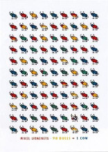 98 Bulls and 1 Cow poster print by Mikel Urmeneta