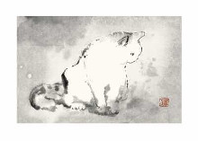 Oriental Cat III poster print by Dehong Chen