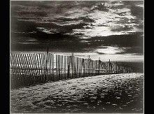 New York, Fence By The Beach poster print by Walter Gritsik