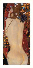 Sea Serpents IV poster print by Gustav Klimt