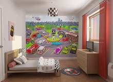 Car Racers poster print by  Walltastic