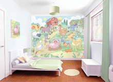 Baby Fun in the Farm poster print by  Walltastic
