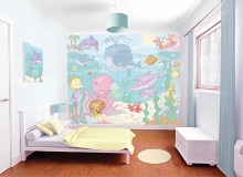 Baby Under the Sea poster print by  Walltastic