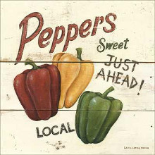 Sweet Peppers poster print