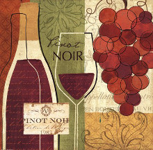 Wine and Grapes I poster print