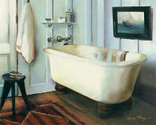 Cape Cod Cottage Tub poster print