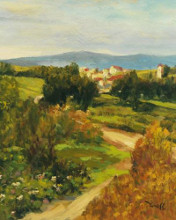 Hilltop Village I poster print by  Yunessi