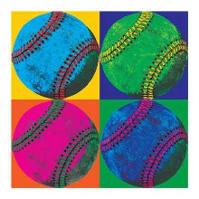Ball Four-Baseball poster print by  Wild Apple Studio