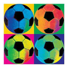 Ball Four-Soccer poster print by  Wild Apple Studio