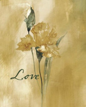 Antique Floral III - Love poster print by  Wild Apple Studio